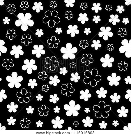 Floral abstract background. Vector illustration.
