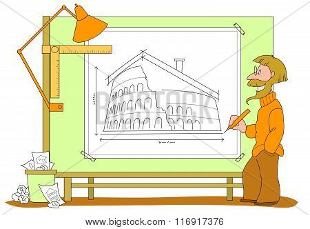 Architect plan vector