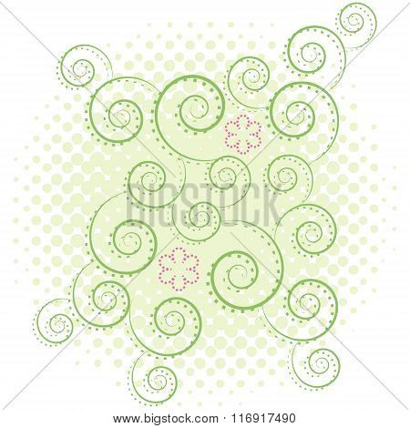 Swirl abstract background. Vector illustration.