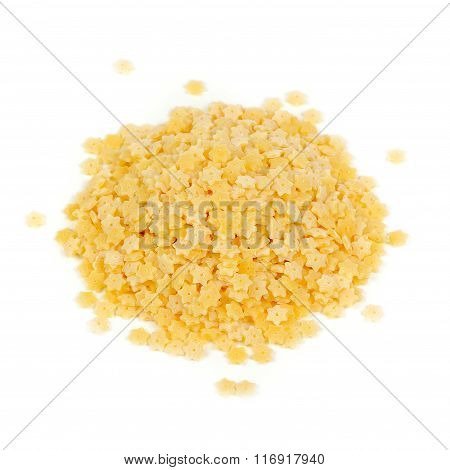 Star-shaped Stelle Pasta Isolated On White Background