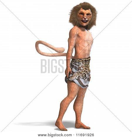male manticore fantasy creature