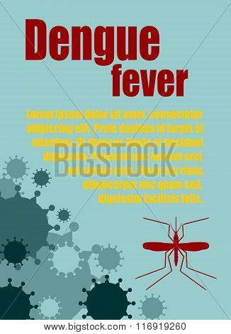 Vector Brochure, Report Or Flyer Design Template. Dengue Fever Relative