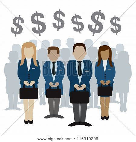 Business And Finance People Vector Illustration