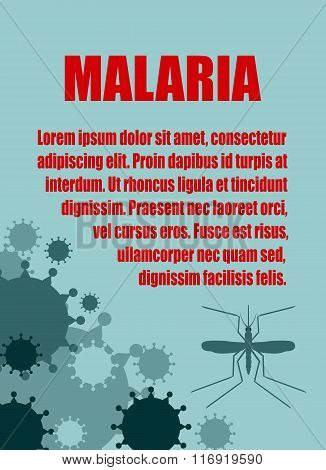 Vector Brochure, Report Or Flyer Design Template. Malaria Relative