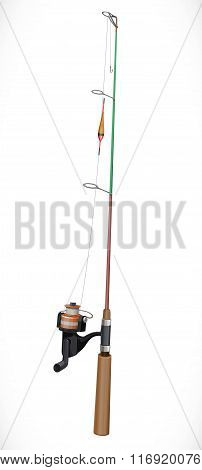 Rod And Reel Isolated On White Background