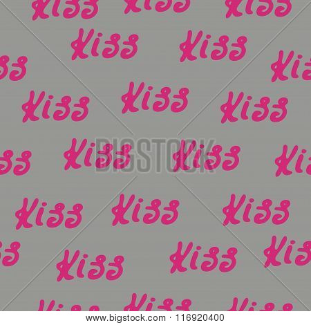 Seamless Pattern Words Love And Hearts