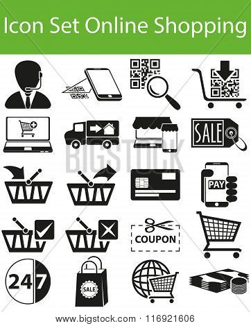 Icon Set Online Shopping