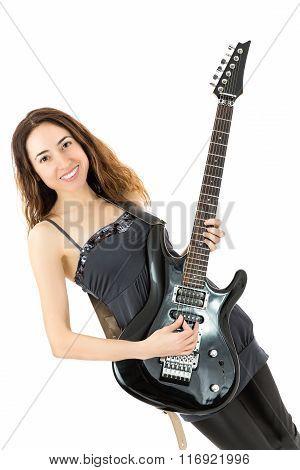 Guitar Playing Girl
