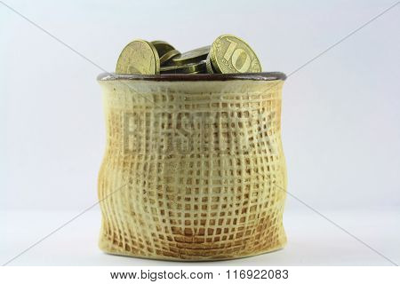 Vase With Coins