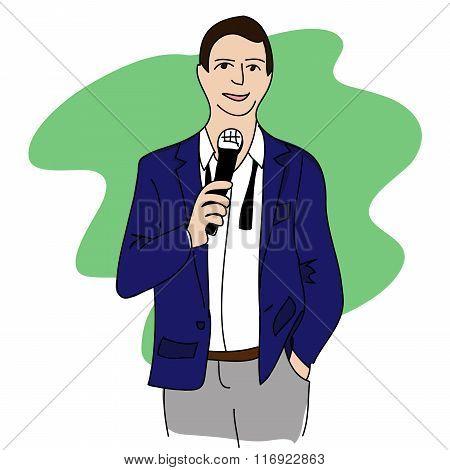 Man speech
