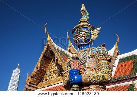 Demon Guardian At Wat Phra Kaew, Bangkok
