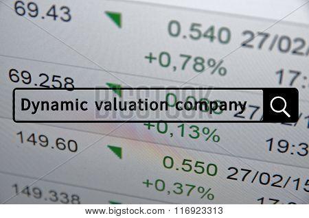 Dynamic valuation company