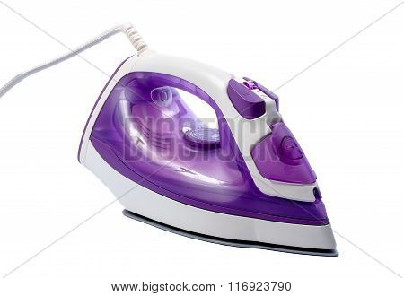 Modern Electric Iron On White Background
