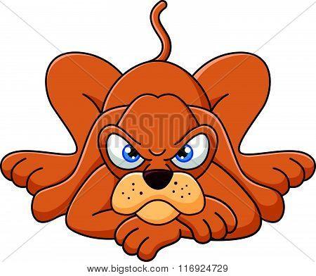 vector illustration of Cute cartoon dog lying down