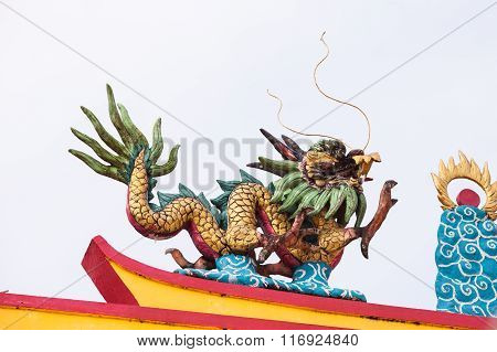 Chinese Dragon Stucco Arts.