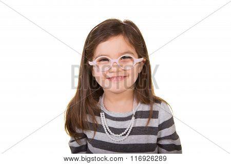 Cute school aged child