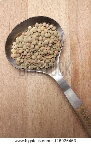 Lentils In Spoon