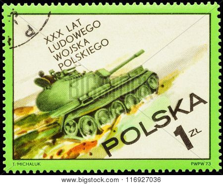 Tank's Attack On Postage Stamp