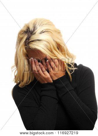 Woman Crying.