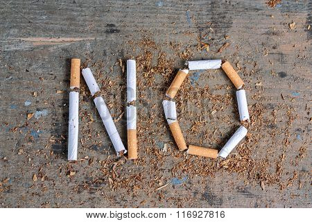 No word of a cigarette. Antismoking background