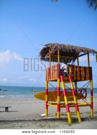 Life Guard Post At Beach
