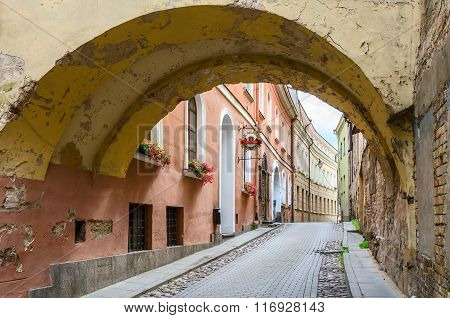 The Narrow Streets Of The Old Town, Vilnius, Lithuania