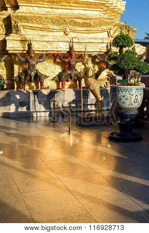 Kinnari And Demon Guardian At Wat Phra Kaew