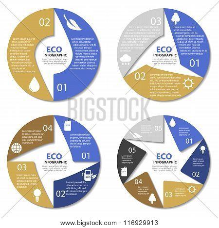 Ecology circle diagram, round infographic