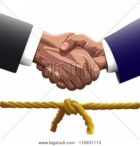 Shaking Hands Knot