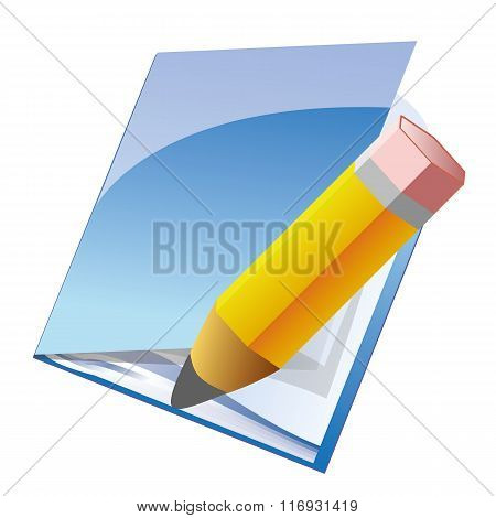 Note and pencil icon
