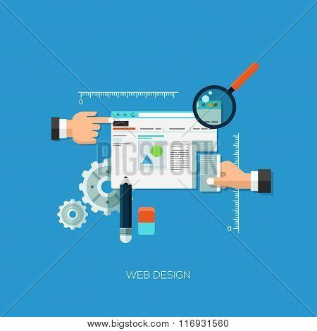 Flat vector illustration concept for web design