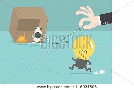 Money Trap The Idea By Businessman