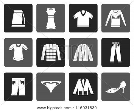 Flat Clothing Icons
