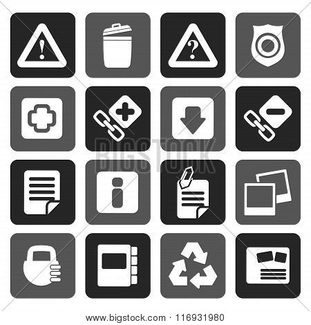 Flat Web site and computer Icons