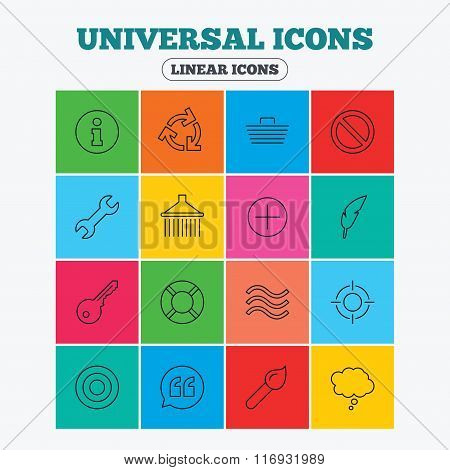 Universal icon. Information, shopping and shower