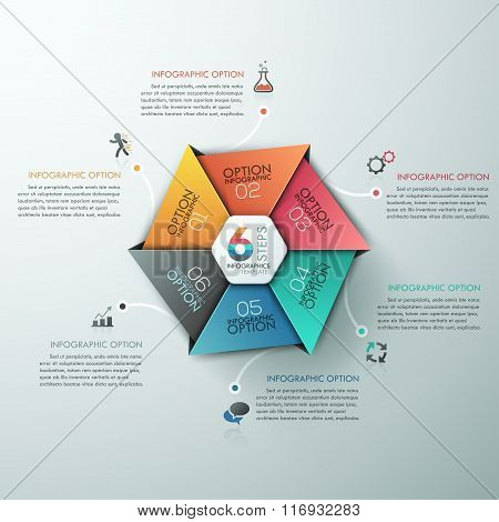 Education And Graduation Infographic With Hexagon Diagram Design Template