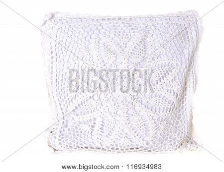 White Knitted Pillow