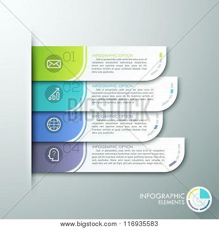 Modern paper infographics options banner