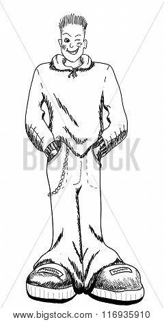 Boy on a white background - illustration