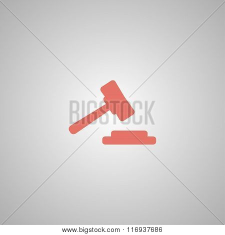 Auction Web Icon. Vector Design