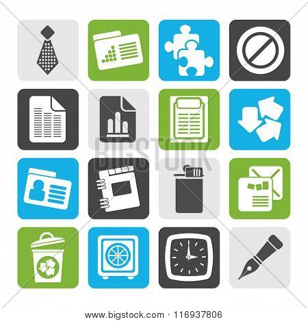 Flat Business and Office Icons