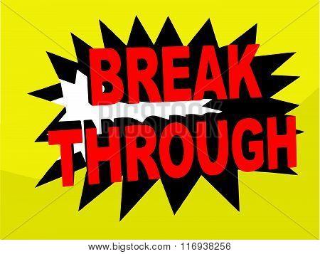 Breakthrough Banner Illustration (Vector)
