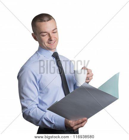 Employee Examining The Documents