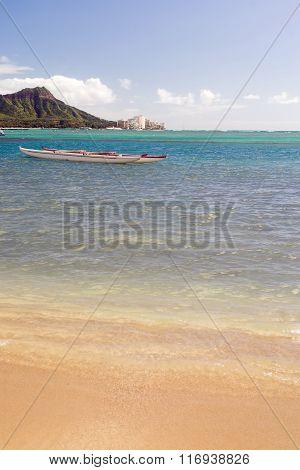 Boats Float Pacific Ocean Diamond Head Oahu Waikiki Hawaii