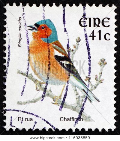 Postage Stamp Ireland 2002 Chaffinch, Bird