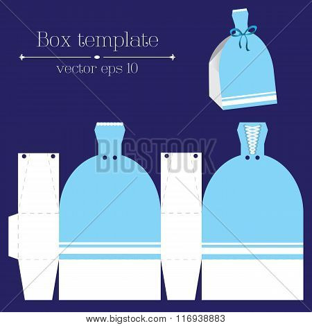 Vector Box Template. Blue Glad Rags.