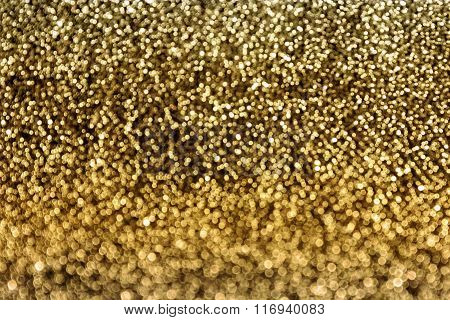Gold Colour Bokeh Glow Light Background