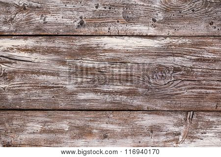 Rustic Wood Background With White Stain Horizolnatl View