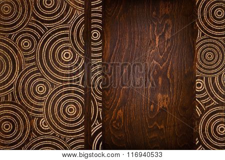 board with a carved pattern