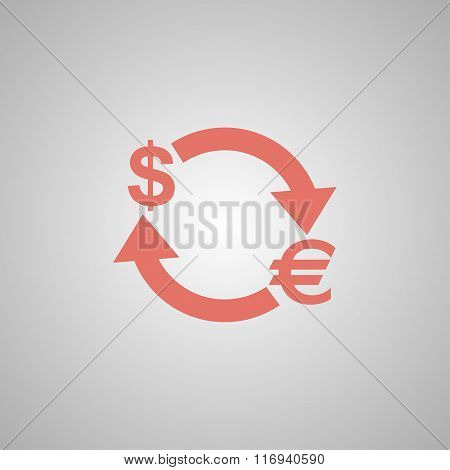 Money Convert Icon. Euro Dollar